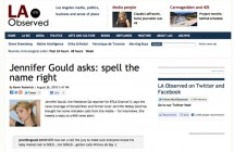 """Jennifer Gould asks: spell the name right"""