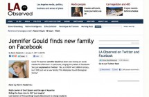 """Jennifer Gould finds new family on Facebook"""