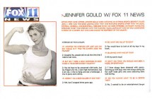 """Jennifer Gould w/Fox 11 News"" -Option Magazine"