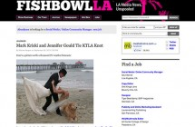 """Mark Kriski and Jennifer Gould Tie KTLA Knot"""