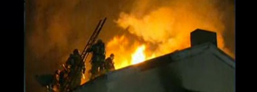 Fire Races Through Structure in Hollywood